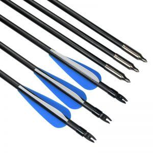 Flecha Fibra De Vidrio 30» X 25 Unidades Pta Cambiable Arco