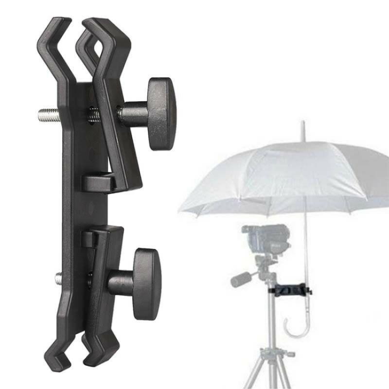 Soporte Pinza Doble Paraguas Lluvia Fotografía