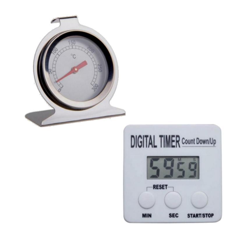 Timer Digital + Termometro Cocina Horno Kit Gastronomia Chef
