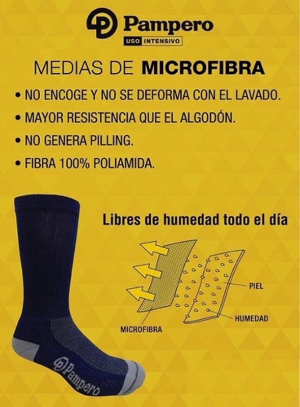 Medias Pampero Térmica Caña Alta Microfibra *pack X3* Oferta